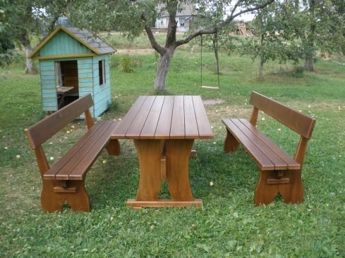 Столы и скамейки для дачи