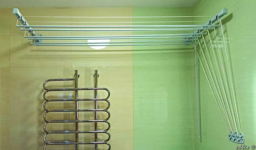 Сушилка для белья веревочная вытяжная на балкон