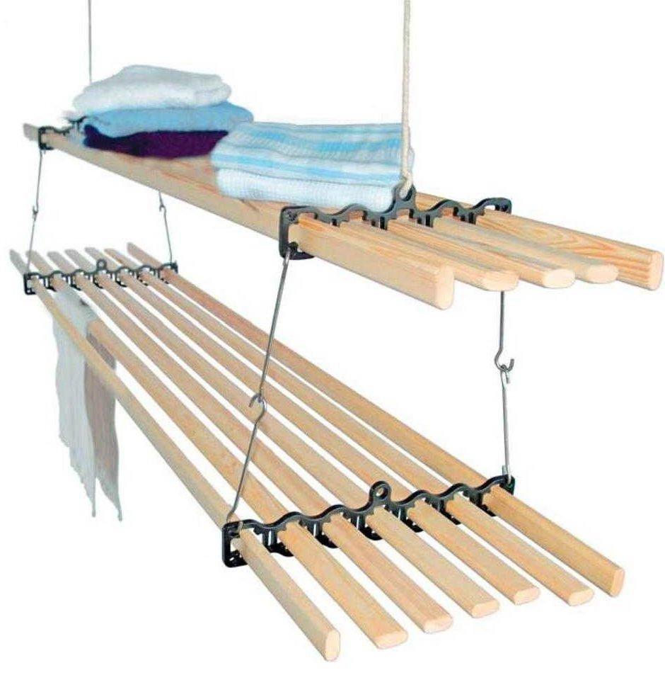 Сушилка потолочная с деревянными рейками