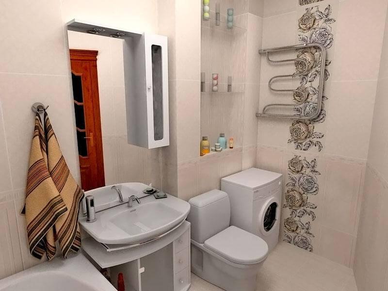 туалет с ванной в хрущевке