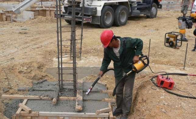 Вибрационная машина для бетона