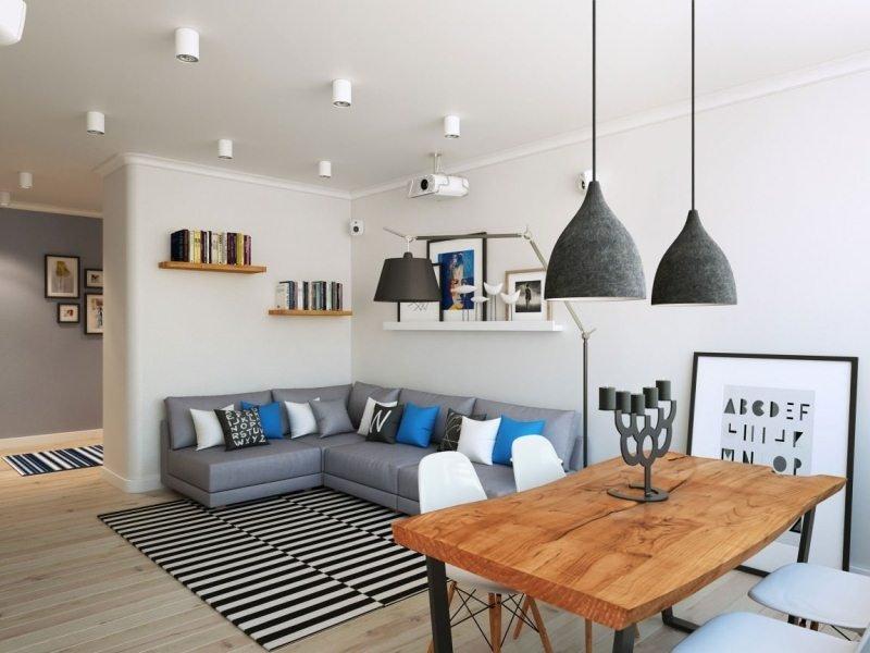 пол в гостиной в стиле модерн
