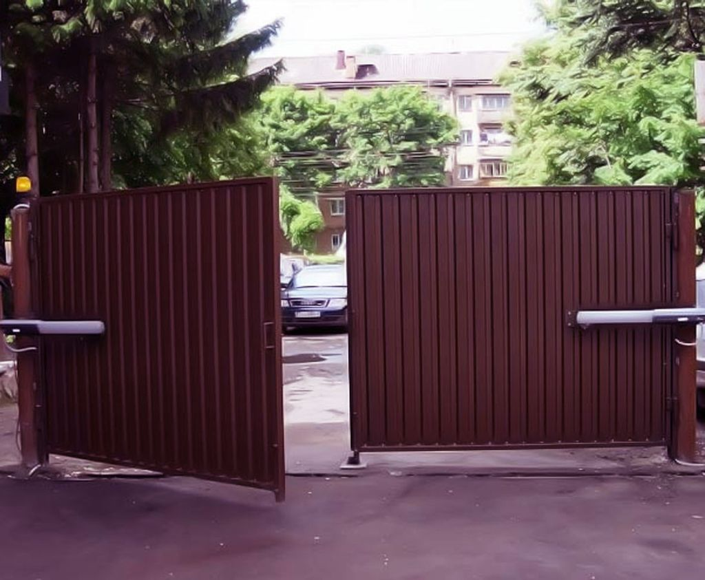 Ворота с применением автоматики