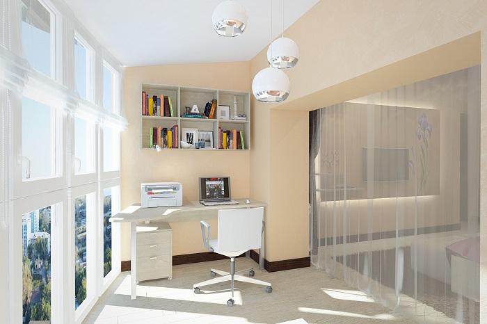 Дизайн спальни с лоджией_фото12
