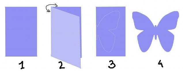 Как сделать контурную бабочку из бумаги