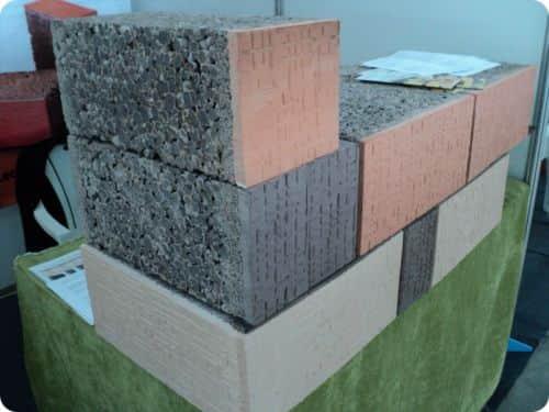 Цвет, размеры, вес блоков из керамзитобетона