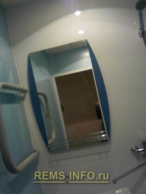 установленное зеркало явилось последним штрихом в моем ремонте ванной