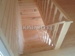 Лестница деревянная(точеные резные балясины)