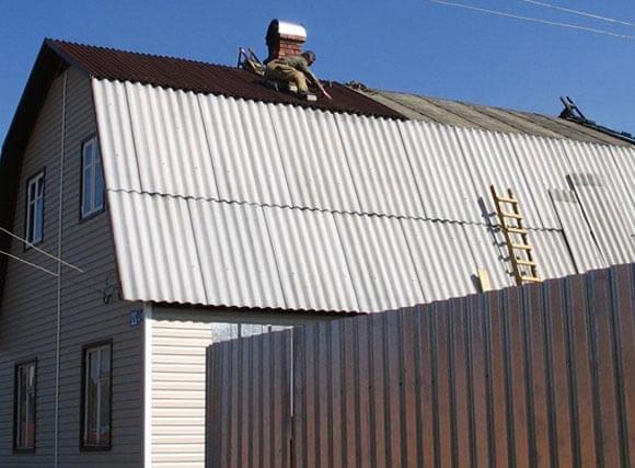 покрыть крышу шифером своими руками