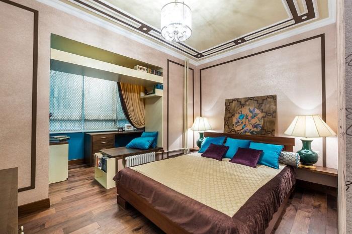 Дизайн спальни с лоджией_фото9
