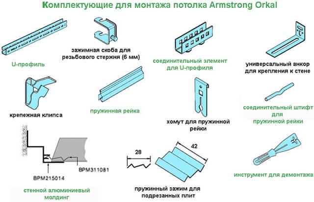расчет подвесного потолка Армстронг