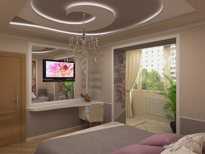 Дизайн спальни с лоджией_фото5