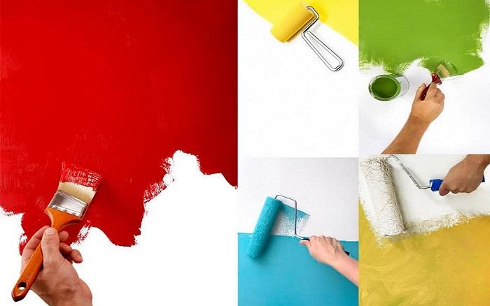 Краска для внутренней отделки_инструманты