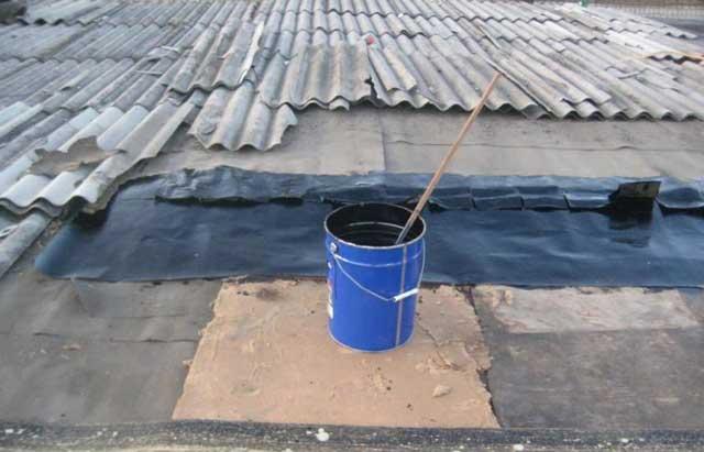 ремонт шифера на крыше гаража