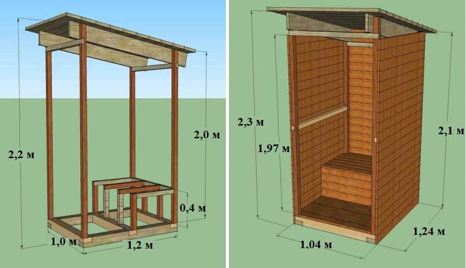 "Проект дачного туалета из дерева типа ""Скворечник"""