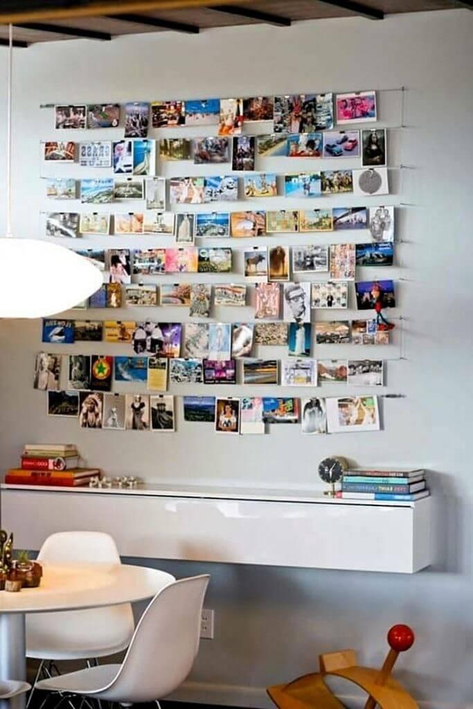 Маленькие фотографии на стене
