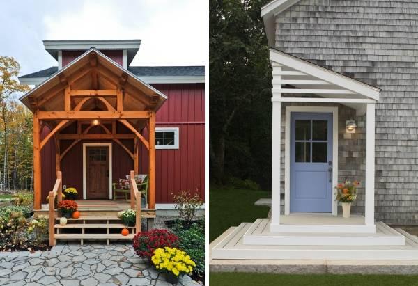 Деревянное крыльцо к дому - варианты и фото