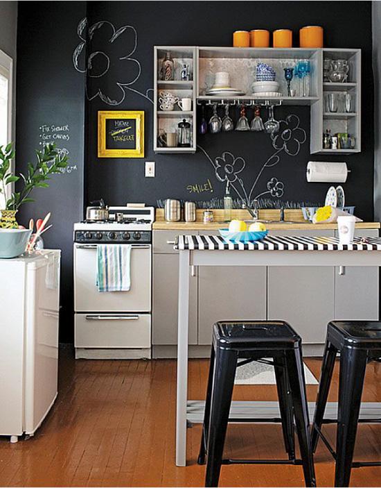 Дизайн современной кухни с меловыми стенами