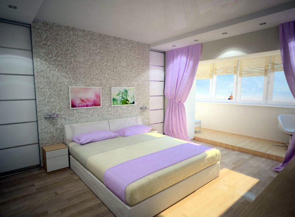 спальня с балконом для девочки