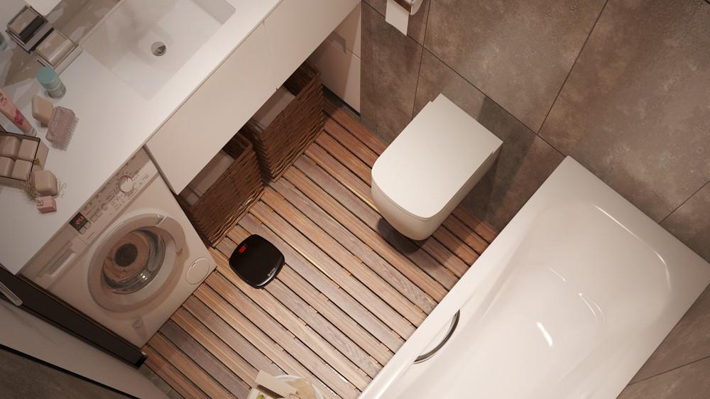 Компактное обустройство хранения для поддержания идеального порядка в небольшой ванной комнате