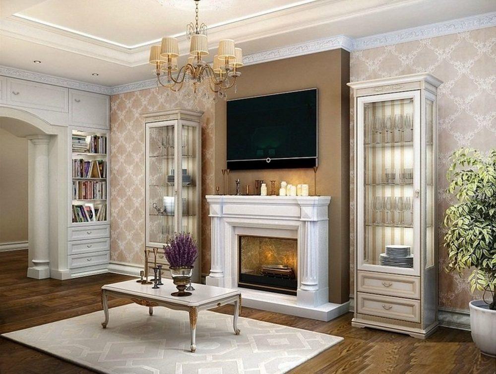 дизайн каминного зала в частном доме в современном стиле