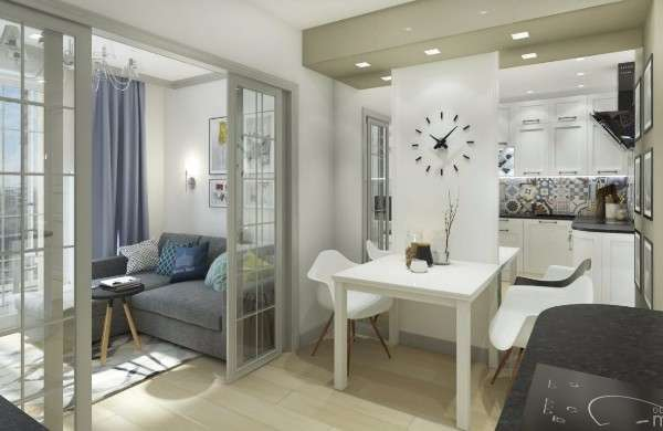 Современный дизайн кухни в маленьких квартирах студиях