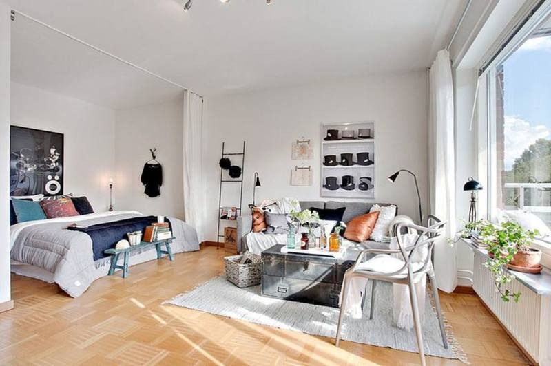 Дизайн маленькой студии квартиры