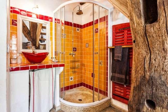 интерьер ванной с душем