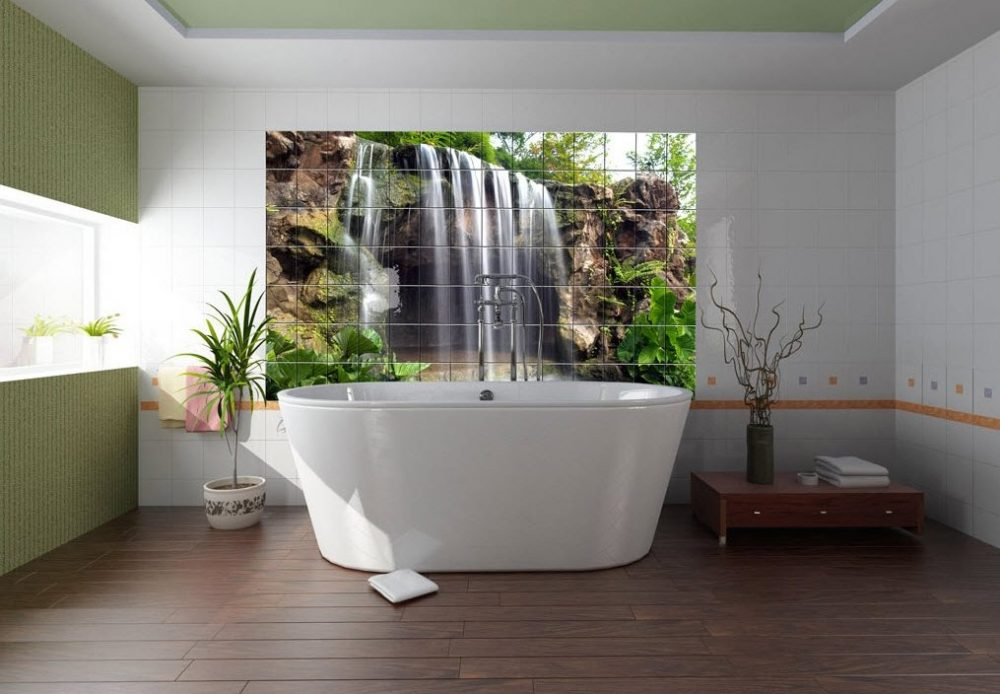 дизайн плитки 3д для ванной