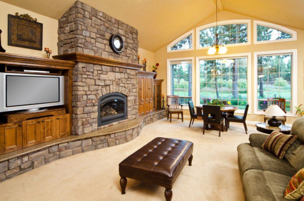 дизайн зала гостиной в частном доме фото