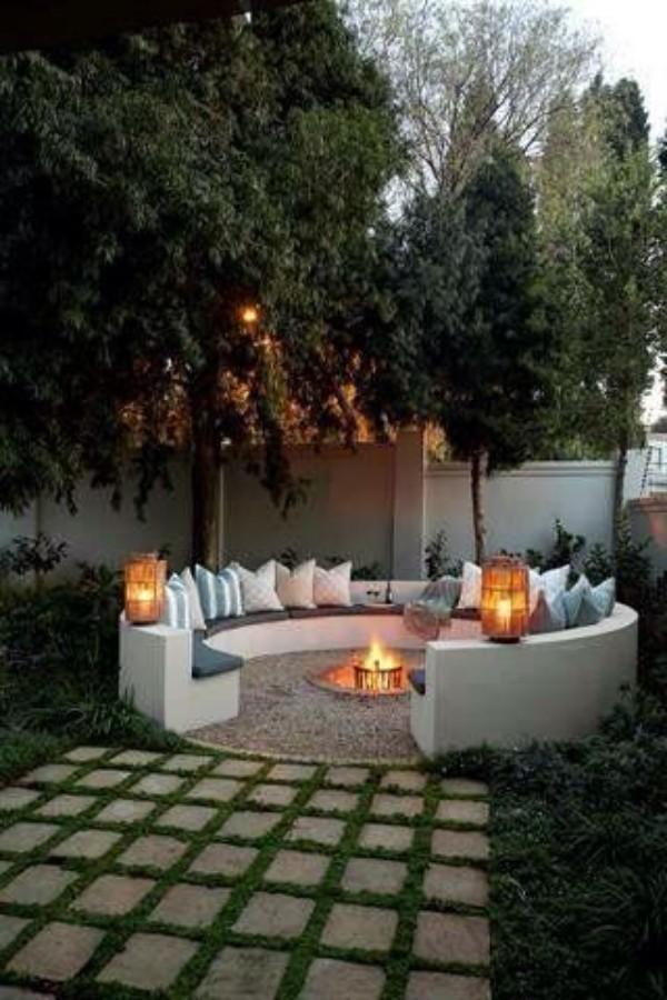 Оформление дизайн двора частного дома, фото 1