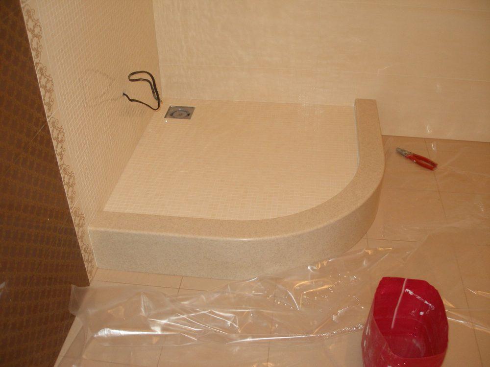 душевая кабина керамическая плитка