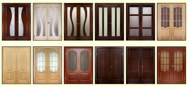 Различные виды двупольных дверей