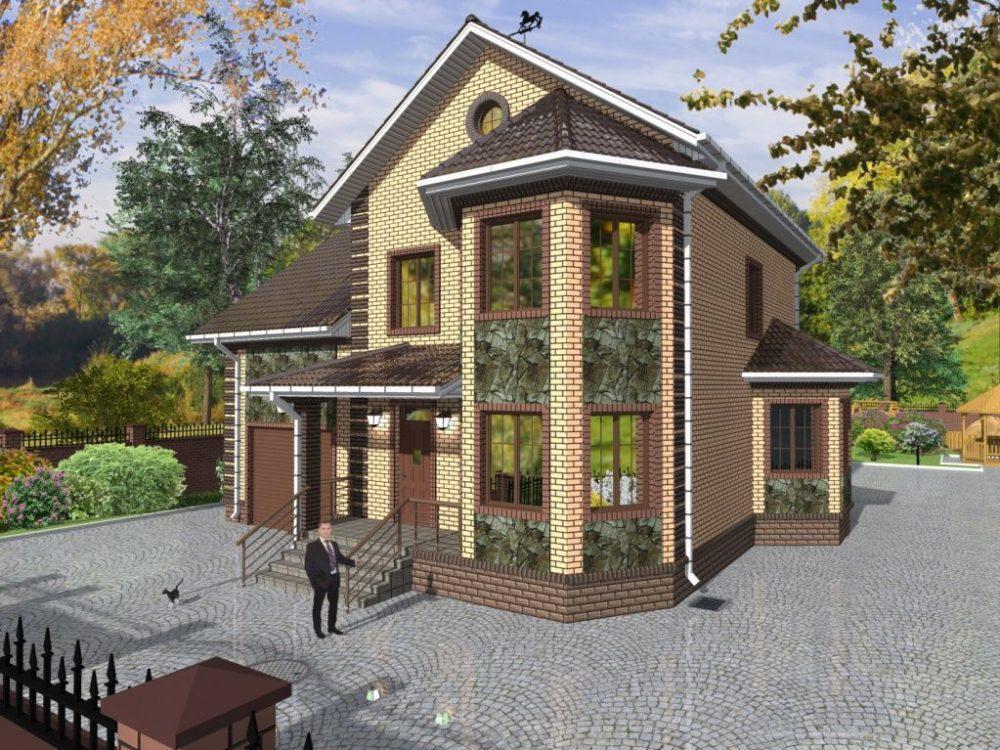 проекты домов с эркером