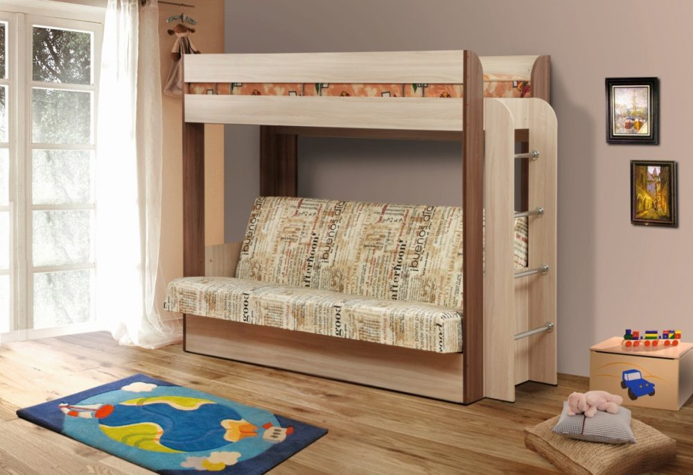 Если место позволяет, лучше выбрать кровать чердак с лестницей другой конструкции