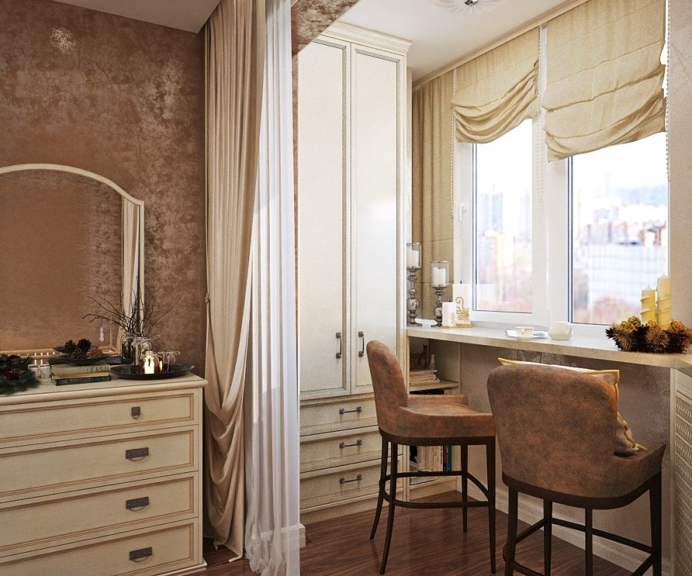 Спальня, совмещенная с балконом