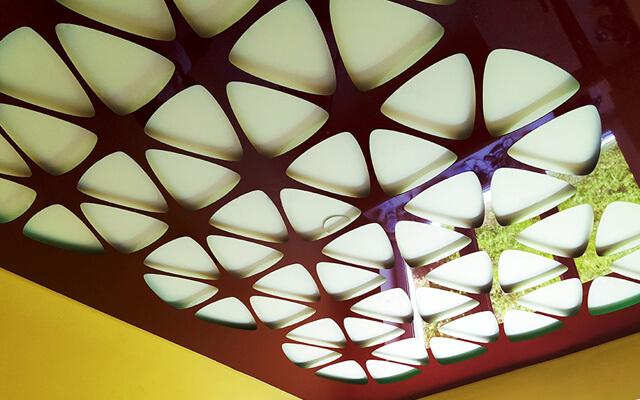 натяжные потолки с перфорацией