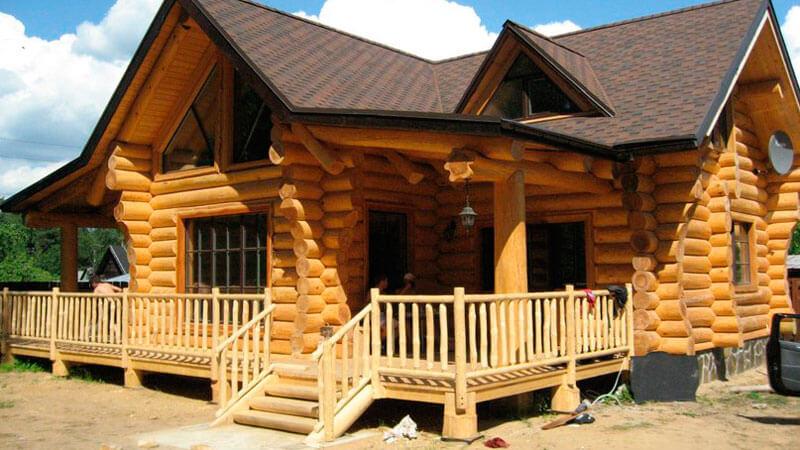 фото одноэтажного деревянного дома