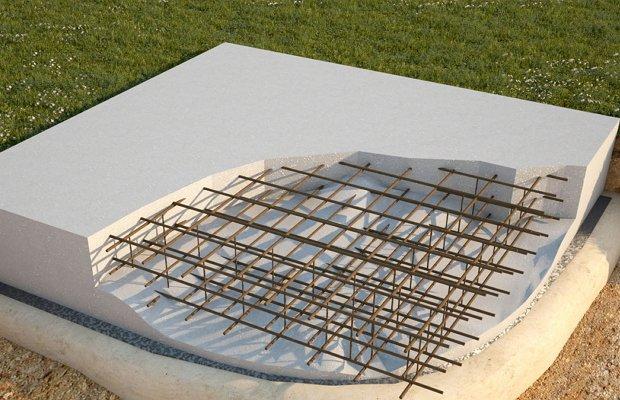 Плавающая плита – идеальный вариант для проблемных почв