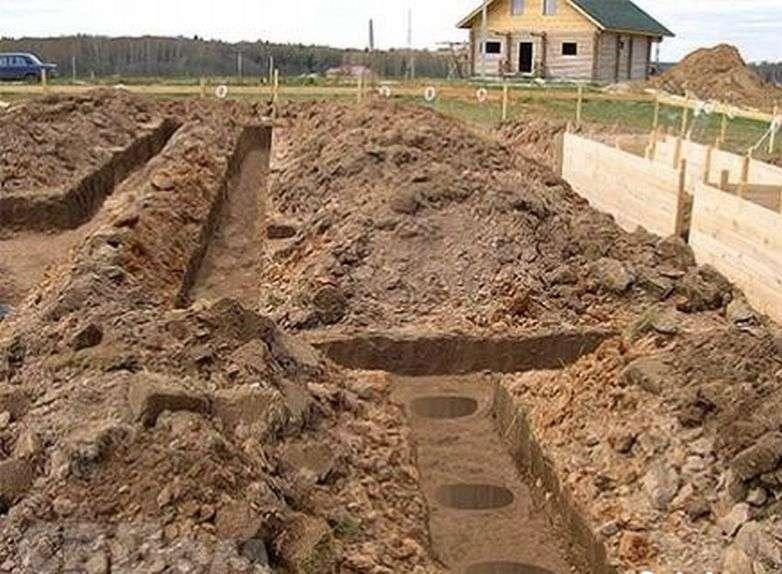 Земляные работы под фундамент