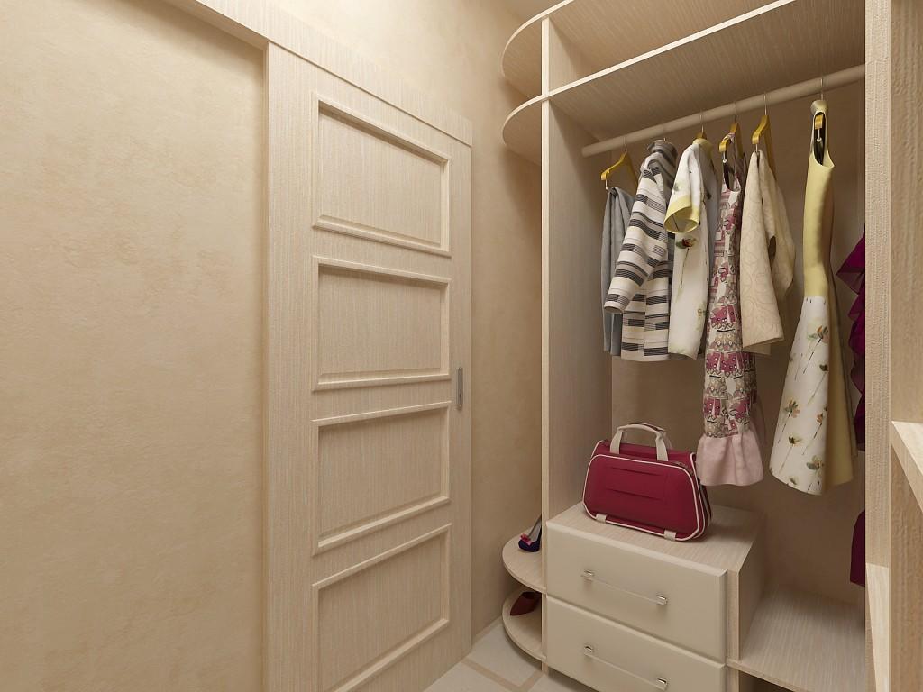 В квартире небольшого размера гардеробную можно обустроить в отдельной нише