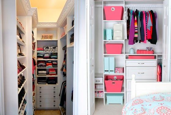 образцы гардеробных комнат маленьких размеров