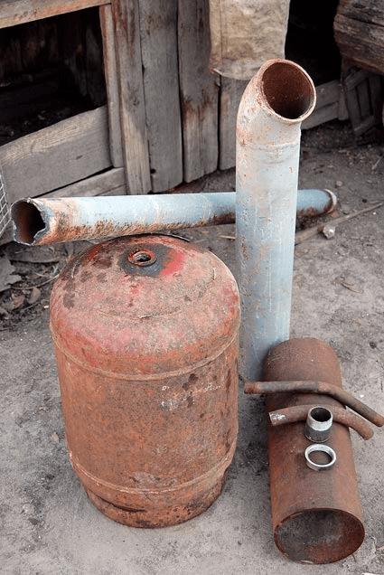 Газовый баллон для парогенератора