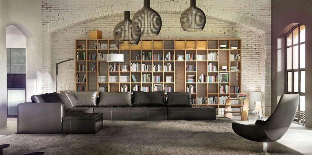 Для больших интерьеров - большие элементы декора и мебели