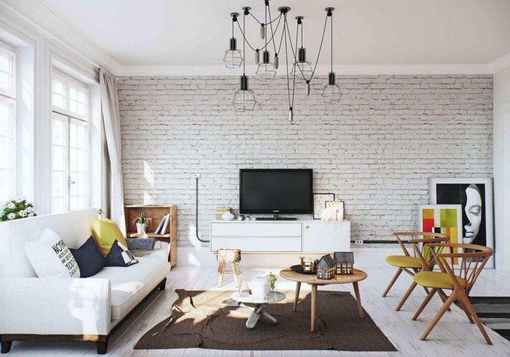 Белая гостиная расширяет пространство