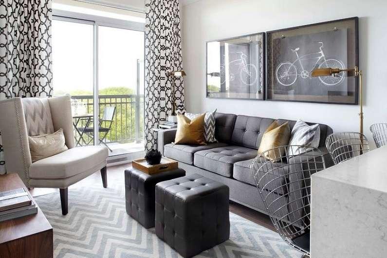 гостиная 18 кв. метров с диваном