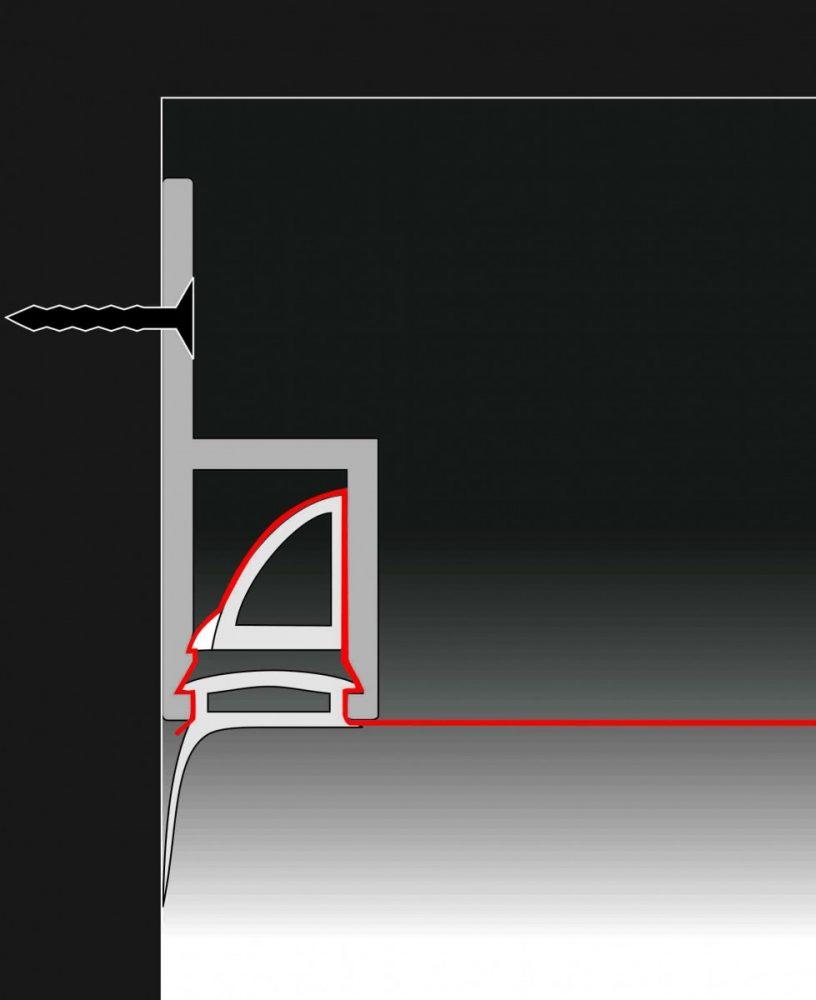 идея использования гарпунной системы крепления натяжных потолков в отделке дома
