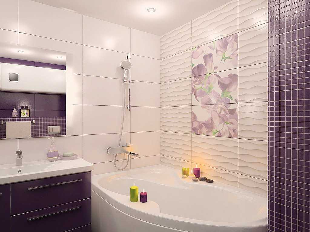 идея необычного дизайна ванной 4 кв.м
