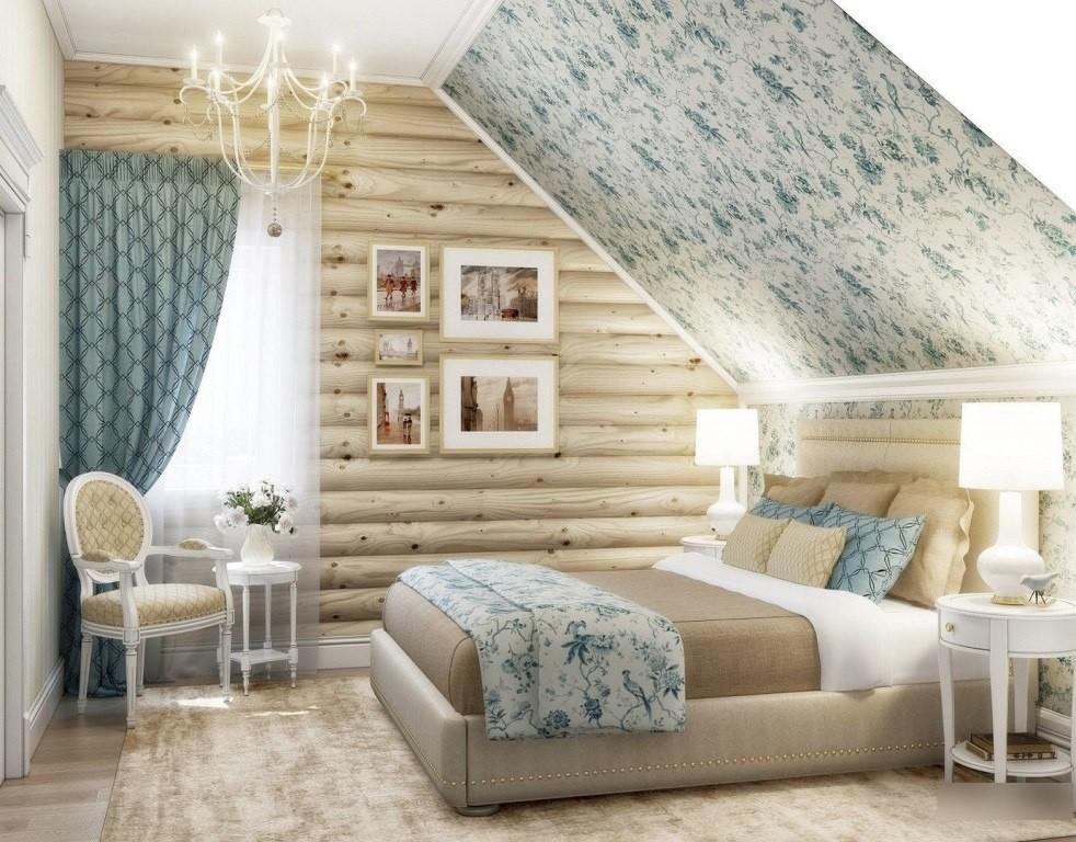 Тканевый натяжной потолок в дачном домике