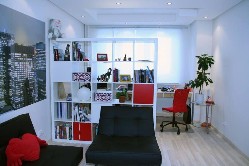 Интерьер квартиры-студии с фотообоями